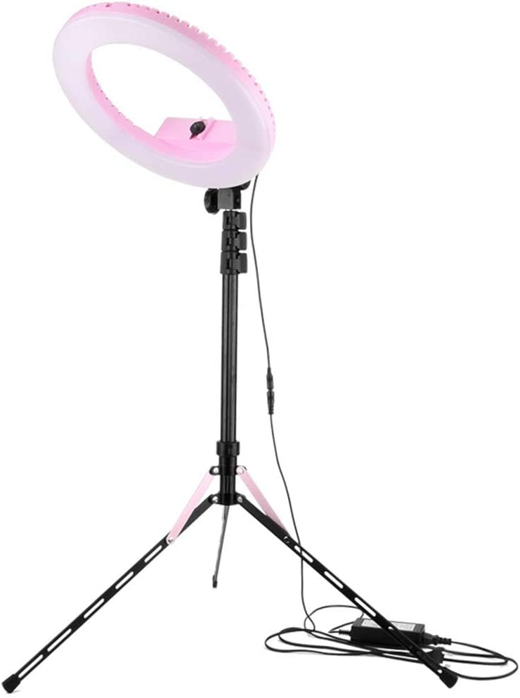 Ring Light Kit 13inch//33cm Outer 20w Dimmable Led Ring Light 3200k//5500k with Light Stand Makeup Mirror for Camera Smartphone Self-Portrait Shooting