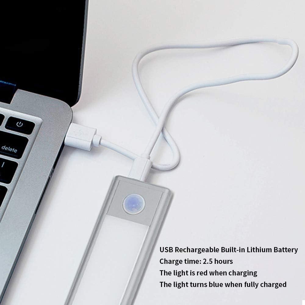 Rechargeable Battery 70 LEDs PIO Motion Sensor Closet Light Adjustable Brightness Wireless Under Cabinet Night Lighting Wattaca LED Closet Light