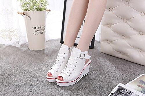 Compensée Chaussures Toile Mode Baskets Femme Zetiy Sneakers de Tennis Chaussure Sandales Casuel Sport EqHRvwZ8