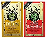 Triple Leaf Caffeine Free Herbal Tea 2 Flavor Variety Bundle: (1) Triple Leaf Chinese Detox Tea (20 count), and (1) Triple Leaf Super Slimming Tea (20 Count)
