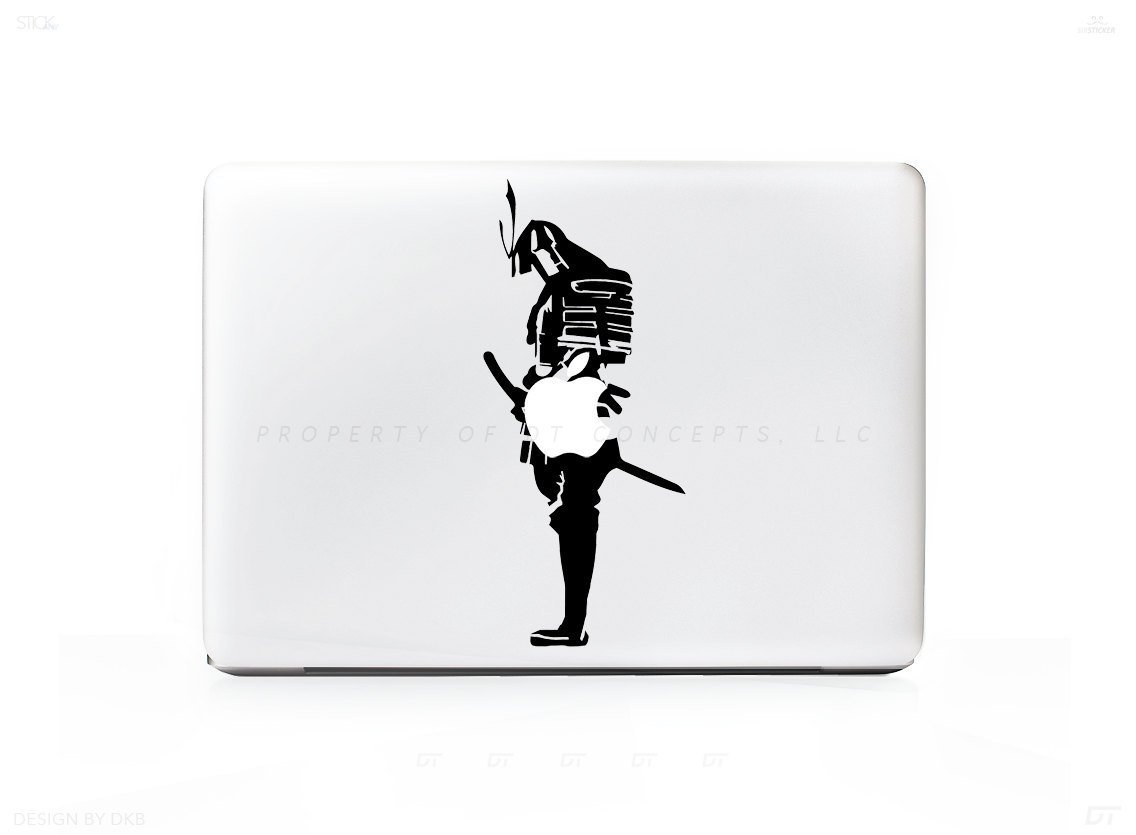 Samurai Fighter Ninja Sticker Decal for Mac Laptops