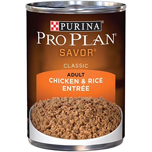 Purina Pro Plan Pate Wet Dog Food; SAVOR Chicken & Rice Entree - 13 oz. Can (Pack of 12)