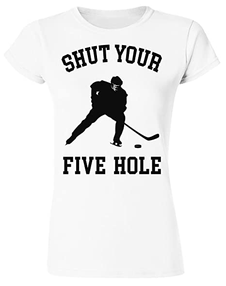 Men's Clothing Shut Your Five Hole Funny Ice Hockeyer T-shirt