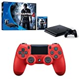 PlayStation 4 Slim 500GB Uncharted 4 Console + Extra Controller Bundle