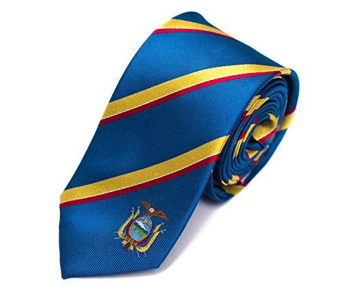 """Ecuador Skinny Tie (2.5"""" Width) 100% Woven Silk"""