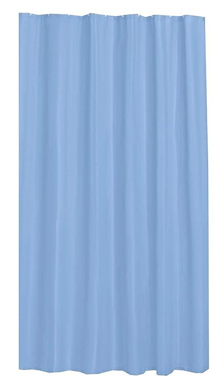 Amazon PLAIN SKY BLUE SHOWER CURTAIN 180CM X WITH HOOKS Everything Else