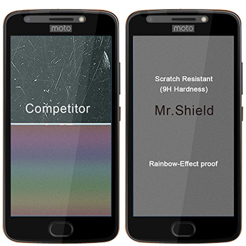 [2-PACK]-Mr Shield For Motorola Moto E4 / Moto E (4th Generation) [FullCover] Screen Protector with Lifetime Replacement Warranty Photo #5