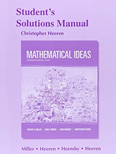 amazon com student s solutions manual for mathematical ideas rh amazon com Fluid Mechanics Quality Control