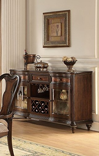 ACME Azis Dark Walnut Server (Antique Walnut Sideboard)