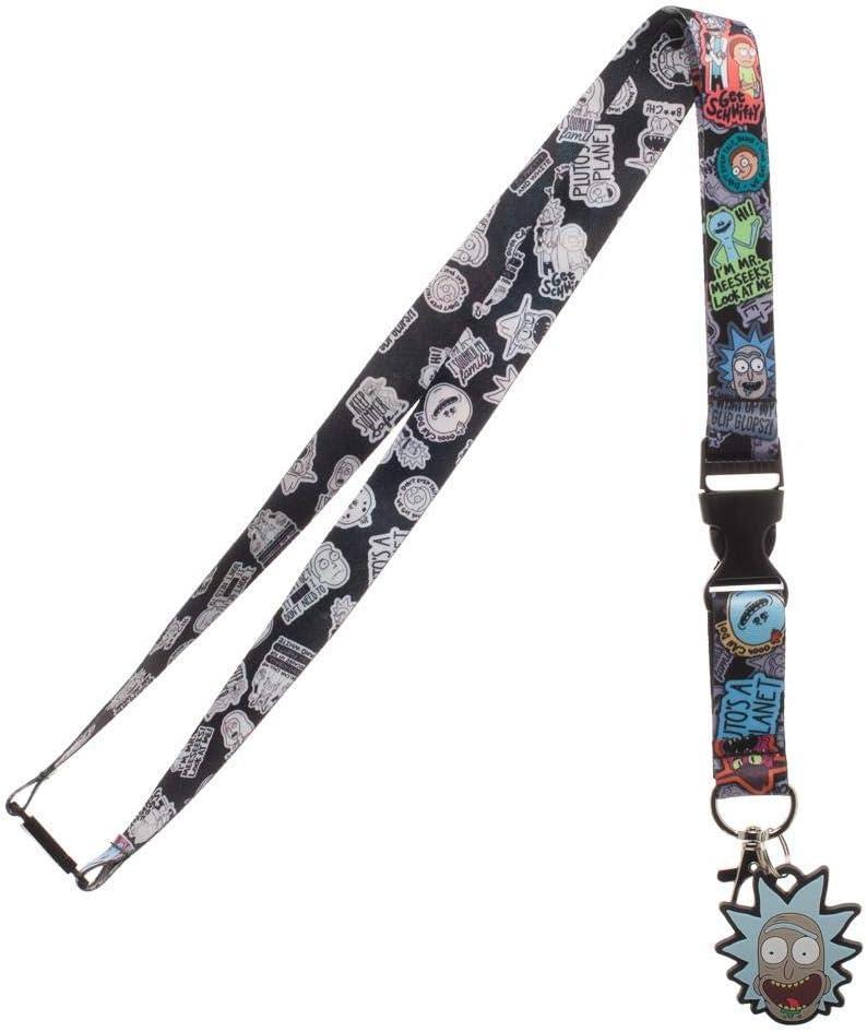 Rick and Morty ID Badge Holder Breakaway Lanyard Keychain