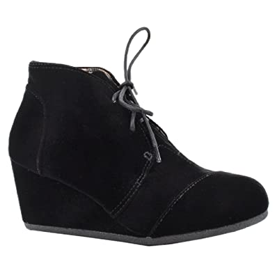 Amazon.com | Women High Top Sneakers Wedge Heel Lace Up Bootie
