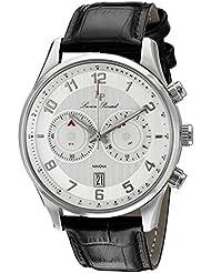 Lucien Piccard Mens LP-11187-02S Navona Analog Display Quartz Black Watch