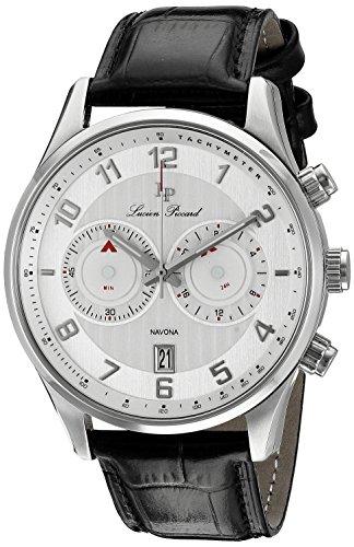 Lp Lucien Piccard (Lucien Piccard Men's LP-11187-02S Navona Analog Display Quartz Black Watch)