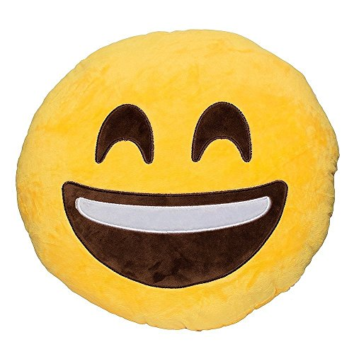 Laughing Closed Emoji Pillow Emoticon product image