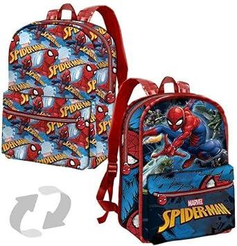 7b1ed32c6f DC COMICS Spiderman Danger - Zaino Reversibile per Bambini - 40cm - Colore:  Multicolor: Amazon.it: Valigeria