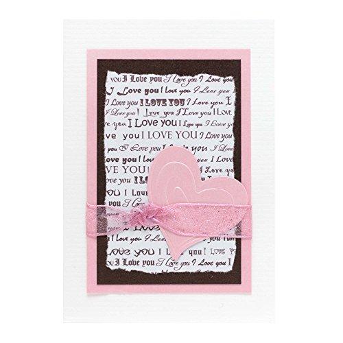 - Pink Love Card - Fair Trade & Handmade