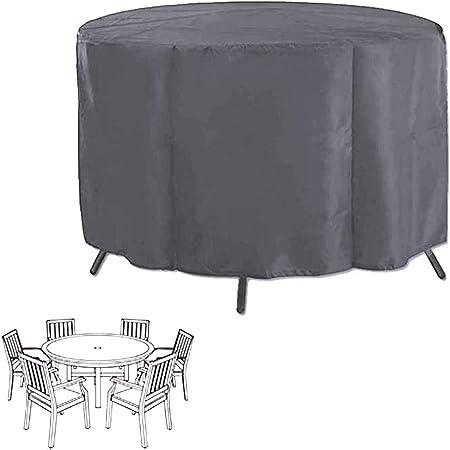 AWSAD Jardín Funda Muebles Circular Lona Protectora a Prueba de Polvo Impermeable Patio Equipamiento Mecánico Conjunto Silla y Mesa, Tamaño Personalizado (Color : Silver, Size : 230x95cm): Amazon.es: Hogar