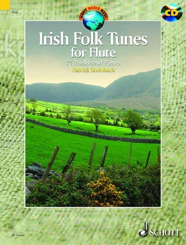 Irish folk tunes +CD (71 pièces traditionnelles) --- Flûte