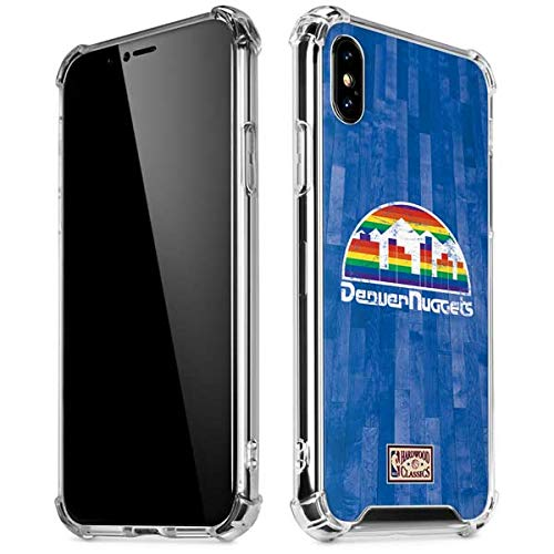 Skinit Denver Nuggets Hardwood Classics iPhone Xs Max Clear Case - Officially Licensed NBA Phone Case Clear - Transparent iPhone Xs Max Cover Denver Nuggets Nba Crystal