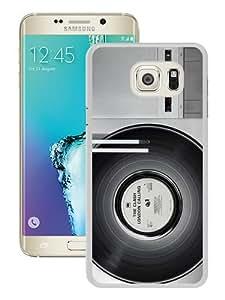 WOSN Classic Retro Vinyl Record Turntable White Case Cover for Samsung Galaxy S6 edge Plus