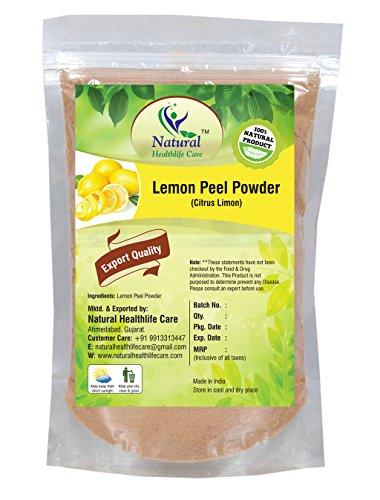 - Natural Healthlife Care 100% Pure Natural Lemon Peel Powder (Citrus Limonum) for Skin Care Skin Cleanser (227g / (1/2 lb) / 8 ounces)