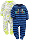 Simple Joys by Carter's Baby Boys' 2-Pack Cotton Footed Sleep and Play, Little Brother/Dino, 3-6 Months: more info