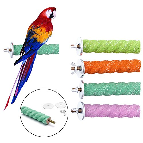 Abicial Colorful Pet Bird Cage 28 Paw Grinding Parrot Parake