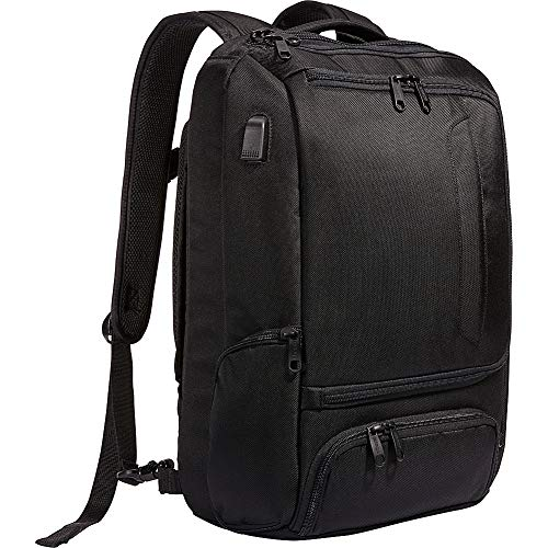 eBags Professional Slim Laptop Backpack with USB Port (Black w/USB)