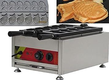 220 V 3 KW Eléctrico peces tipo Waffle máquina japonés Taiyaki Panificadora Waffle Maker Baker: Amazon.es: Hogar
