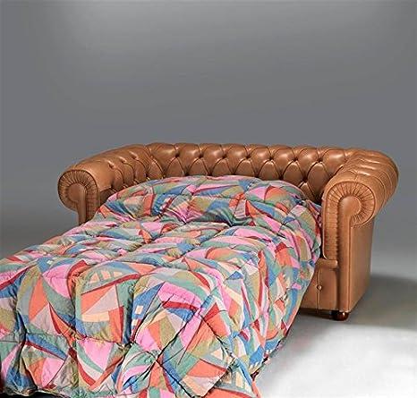 Trama Toscana Sofá cama Chesterfield de 2 plazas, asiento de ...