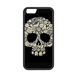 "QSWHXN Skull Art 3 Phone Case For iPhone 6 Plus (5.5"") [Pattern-3]"