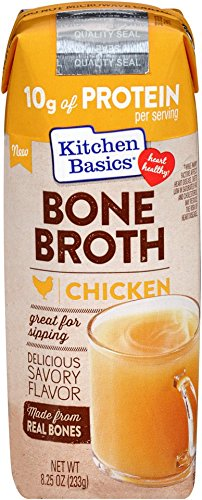 Kitchen Basics Chicken Bone Broth Made with Real Bones, Organic Mirepoix and Herbs, 8.25 Ounce (Pack of 12)