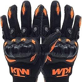 FAS Men's Cotton Full Gloves for KTM Bike Riding (Multicolour, Free Size)