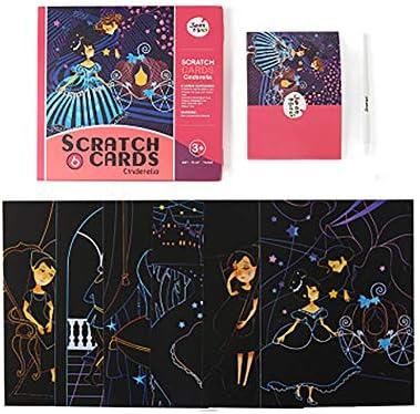 スクラッチアート、創造的なカラフルなスクラッチ絵画の男の子と女の子のための完璧なギフト,Cinderella scratch
