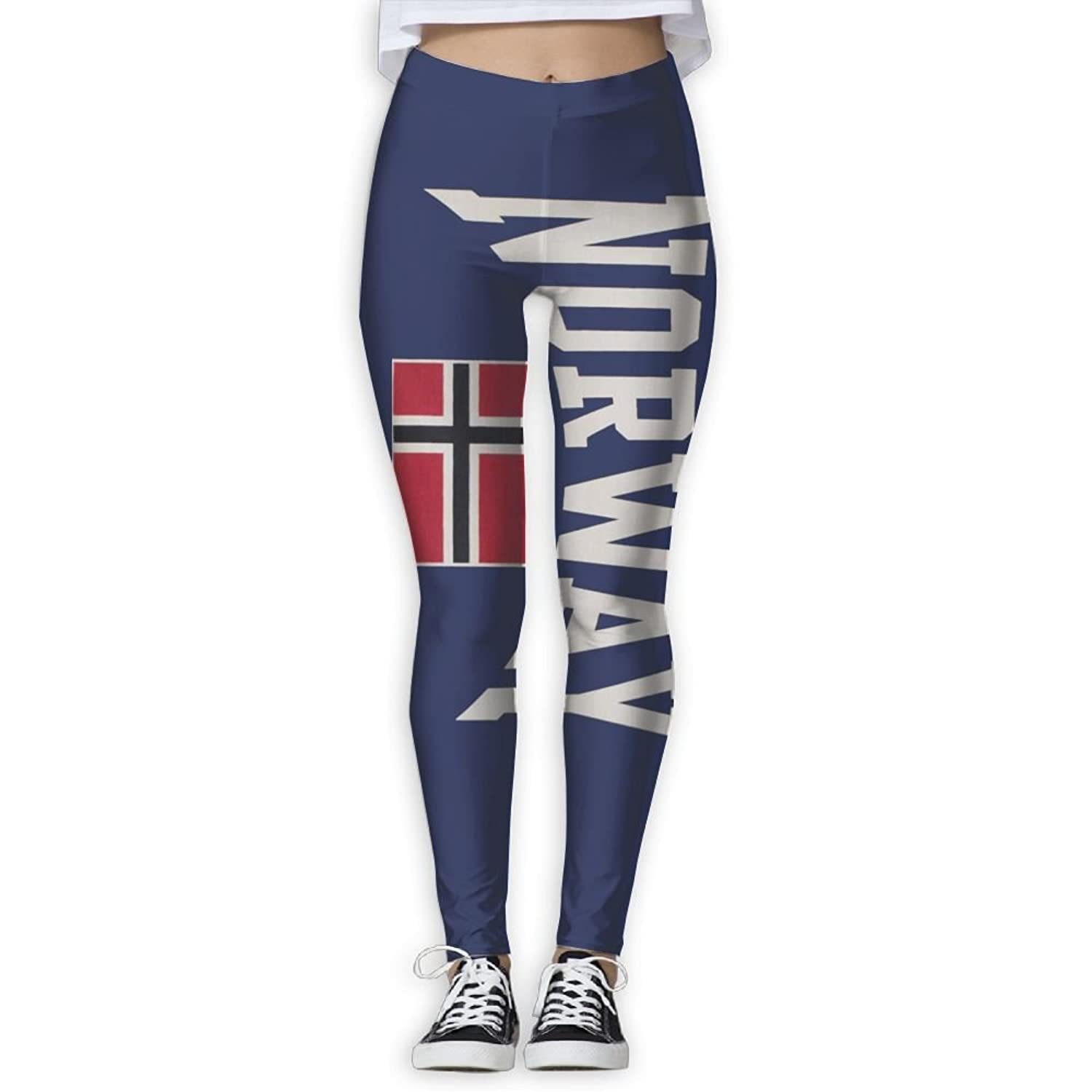 e807c912d4429 ZPENG Yoga Capris Norwegian Flag Fitness Women's Printed Sports Gym  Athletic Pants Leggings
