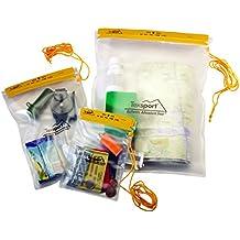 Texsport Waterproof Plastic Pouch Utility Bags - 3 Piece Set