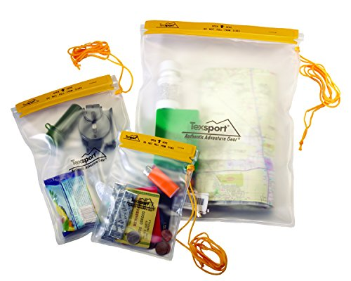- Texsport Waterproof Plastic Pouch Utility Bags - 3 Piece Set