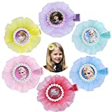 Hair Clips for Girls, Jakpak Baby Girls Cute Hair Clips Toddlers with Disney Cartoon Pattern Tiny Solid Hair Pin Small Lovely Flower Barrettes for Little Girls Mix Color Kids Hairpin 10 Pcs/ 5 pairs