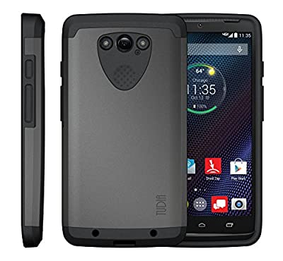 TUDIA Slim-Fit CYGEN Dual Layer Protective Case for Motorola DROID Turbo Ballistic Nylon Version Only (NOT Compatible with Metalized Glass Fiber Version) by TUDIA
