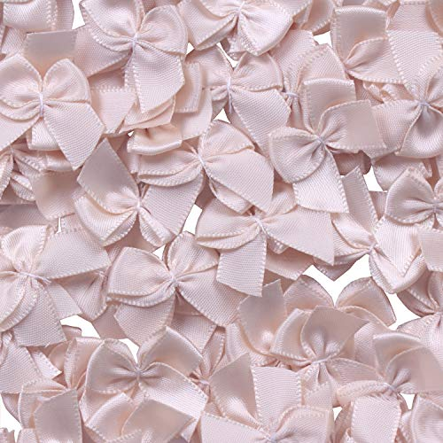 (YAKA 80Pcs Mini Satin Ribbon Bows Flowers 1