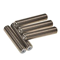 Signswise 5PCS Barrel M6 X 30 Teflon Nozzle Throat for MK8 Tube Makerbot 3D Printer Extruder Hot End by Signswise