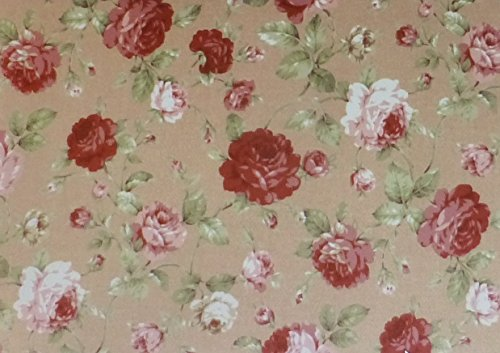 Collection Floral Rose Antique (Antique Flower~Roses on Tan by Lecien Cotton Fabri Floral)