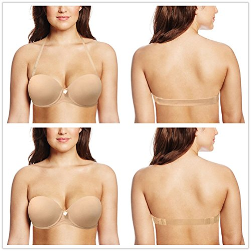 649156ae46 Women s Clear Backless Invisible transparent Strapless Wedding Bra - Buy  Online in Oman.