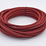 32.8ft Round 18/2 Rayon Covered Wire,HESSION Antique Industrial Electrical Cloth Cord,Vintage Style Lamp Cord strands UL listed(Red and Black)