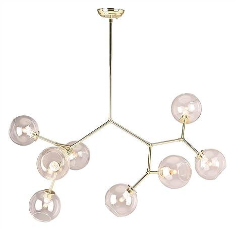 Atom 8 Light Pendant In Clear