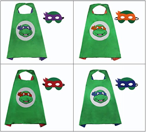GDreamer Kid Ninja Turtles Mask and Cap for Halloween Costume and Cosplay Party (Raphael/Red) (Ninja Turtle Party Mask)