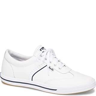 Keds Women's COURTY CORE Leather Sneaker, White, 7