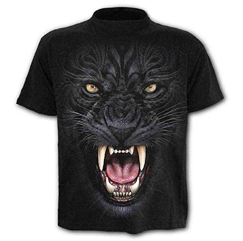 Travestimento Donna Leone C09 3d Gotico Unisex Cosplay Accessori Regalo Maglietta shirt T Pantera Idea Rock Nera Uomo Divertenti Maniche Maglia Corte aqaZ8r4wx