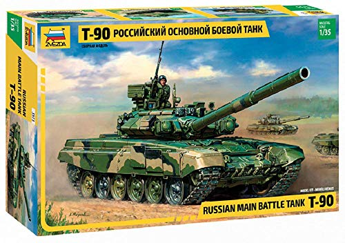 Zvezda Models 1/35 T-90 Russian Main Battle - Models Russian