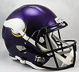 NFL Minnesota Vikings Riddell Full Size Replica Speed Helmet, Medium, Purple